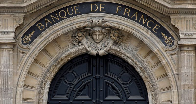 FILE PHOTO: Facade of the Bank of France