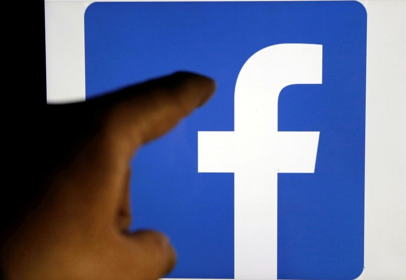 FILE PHOTO: A Facebook logo is pictured in Bordeaux, southwestern France