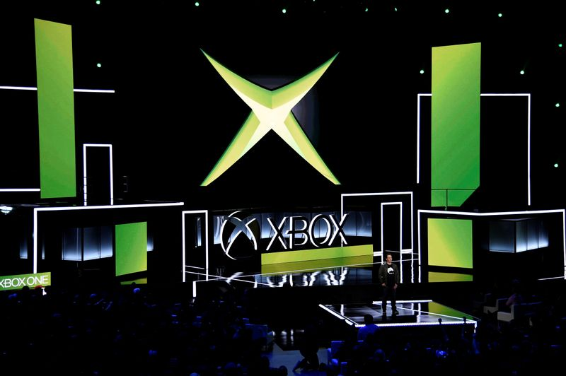 FILE PHOTO: Head of Microsoft Xbox Phil Spencer speaks during the Microsoft Xbox E3 2017 media briefing in Los Angeles