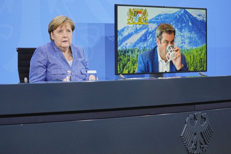 Germany's Merkel meets with state leaders to discuss COVID-19 measurements
