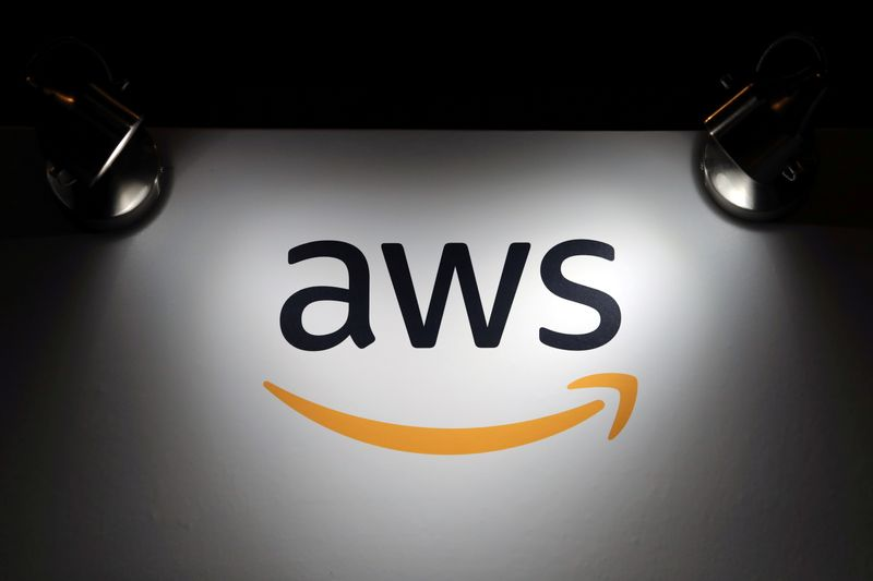 FILE PHOTO: The logo of Amazon Web Services (AWS) is seen in Santiago