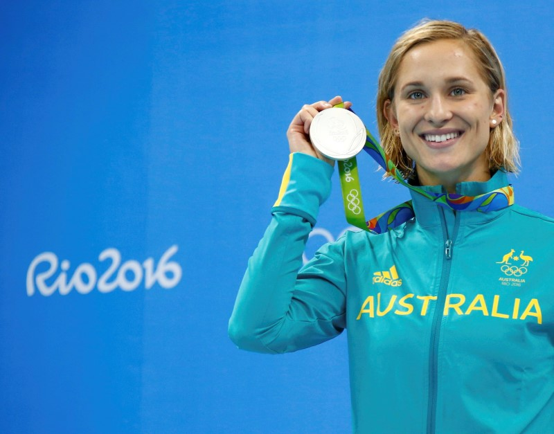 FILE PHOTO: Swimming - Women's 200m Butterfly Victory Ceremony