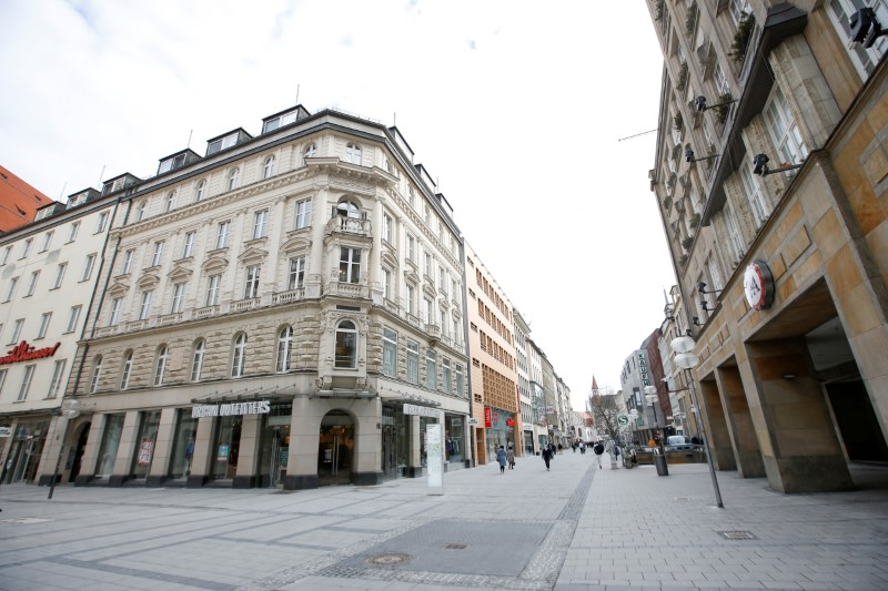 FILE PHOTO: Closed shop due to the COVID-19 pandemic in Munich