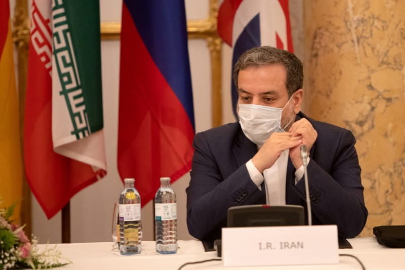 FILE PHOTO: Iran's top nuclear negotiator Araqchi at a meeting in Vienna