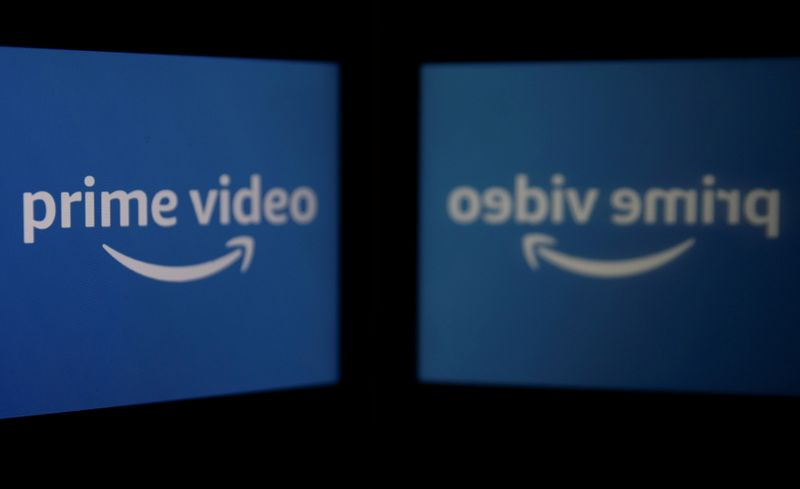 FILE PHOTO: The logo of streaming service Amazon Prime Video is seen in this illustration picture