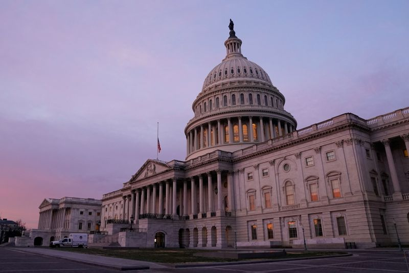 FILE PHOTO: The U.S. Capitol is seen at sunrise