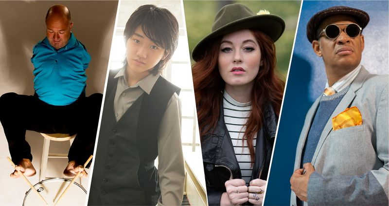 The combination pictue shows Alvin Law, Kyle Kihira, Mandy Harvey and Raul Midon