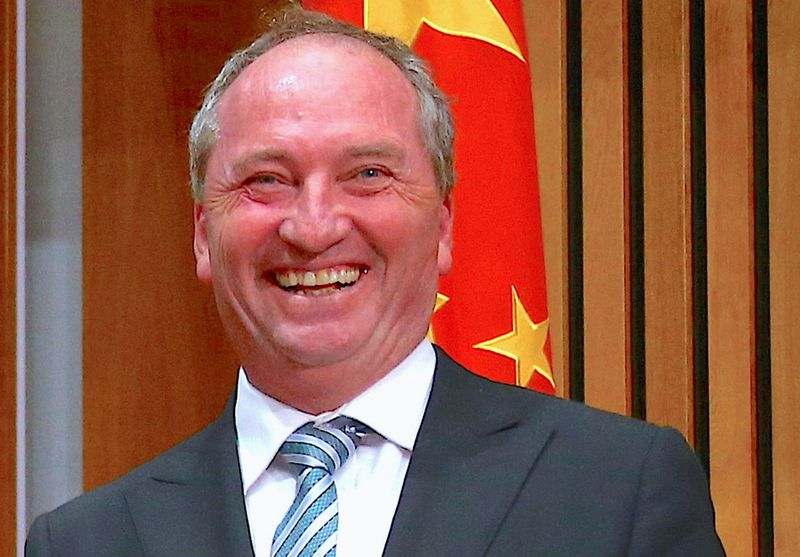 FILE PHOTO: Barnaby Joyce, Australia's Deputy Prime Minister and Minister for Agriculture and Water Resources, during an official signing ceremony at Parliament House in Canberra