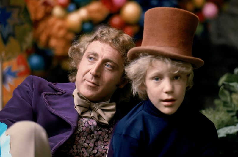 A handout image shows Gene Wilder as Willy Wonka and Peter Ostrum as Charlie Bucket in the 1971 film 'Willy Wonka & the Chocolate Factory.'