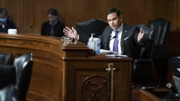 Sen. Marco Rubio, R-Fla., speaks during a Senate Appropriations Subcommittee looking into the budget estimates for National Institute of Health (NIH) and the state of medical research, Wednesday, May 26, 2021, on Capitol Hill in Washington. (Sarah Silbiger/Pool via AP)