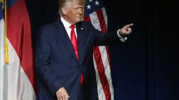 President Donald Trump acknowledges the crowd as he speaks at the North Carolina Republican Convention Saturday, June 5, 2021, in Greenville, N.C. (AP Photo/Chris Seward)