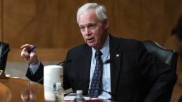 Sen. Ron Johnson, R-Wis., questions Colonial Pipeline CEO Joseph Blount during a Senate Homeland Security and Government Affairs Committee hearing one day after the Justice Department revealed it had recovered the majority of the $4.4 million ransom payment the company made in hopes of getting its system back online, Tuesday, June 8, 2021, on Capitol Hill, in Washington. (Graeme Jennings/Pool via AP)