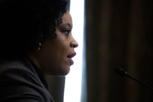 Office of Management and Budget acting director Shalanda Young testifies during a Senate Budget Committee hearing to discuss President Joe Biden's budget request for FY 2022 on Tuesday, June 8, 2021, on Capitol Hill in Washington. (Shawn Thew/Pool via AP)