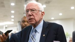 Sen. Bernie Sanders, I-Vt., speaks with reporters while arriving for a Senate vote, Wednesday, June 16, 2021, on Capitol Hill in Washington. (AP Photo/Jacquelyn Martin)