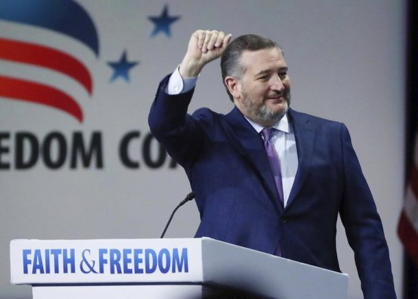 U.S. Sen. Ted Cruz speaks during the Road to Majority convention at Gaylord Palms Resort & Convention Center in Kissimmee, Fla. (Stephen M. Dowell