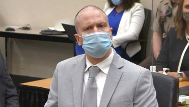 In this image taken from video, former Minneapolis police Officer Derek Chauvin listens as Hennepin County Judge PeterCahill sentences him to 22 1/2 years in prison, Friday, June 25, 2021, for the May 25, 2020, death of George Floyd, at the Hennepin County Courthouse in Minneapolis. (Court TV via AP, Pool)