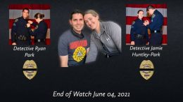 (Detectives Ryan Park, left, and Jamie Huntley-Park, right, are photographed. Courtesy of San Diego Police Department)