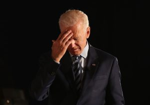 DES MOINES, IOWA - JULY 15: Democratic presidential candidate former U.S. Vice President Joe Biden pauses as he speaks during the AARP and The Des Moines Register Iowa Presidential Candidate Forum at Drake University on July 15, 2019 in Des Moines, Iowa. Twenty Democratic presidential candidates are participating in the forums that will feature four candidate per forum, to be held in cities across Iowa over five days. (Photo by Justin Sullivan/Getty Images)