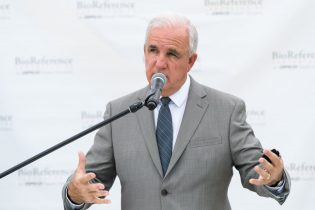 DORAL, FL - JUNE 18: Miami-Dade County Mayor Carlos A. Gimenez speaks during BioReference Laboratories hosts Grand Opening of COVID-19 (Coronavirus) Antibody Testing Collection Event at the Miami International Mall with local Government Officials providing opening remarks on June 18, 2020 in Doral, Florida. (Photo by Jason Koerner/Getty Images for BioReference Laboratories)