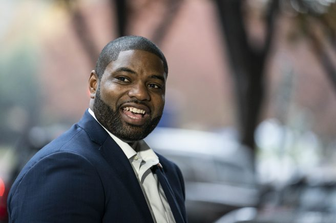 Rep. Byron Donalds on Capitol Hill in Washington, DC. (Photo by Sarah Silbiger/Getty Images)