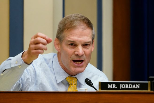 Rep. Jim Jordan (R-Ohio) on Capitol Hill in Washington, D.C. (Photo by Susan Walsh / POOL / AFP) (Photo by SUSAN WALSH/POOL/AFP via Getty Images)
