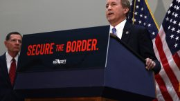 Texas Attorney General Ken Paxton speaks at a news conference on the U.S. Southern Border and President Joe Biden's immigration policies, in the Hart Senate Office Building on May 12, 2021 in Washington, DC. Homeland Security Secretary Alejandro Mayorkas will testify on May 13 before the Senate Homeland Security and Governmental Affairs Committee on the DHS treatment of unaccompanied minors at the U.S. Southern border. (Photo by Anna Moneymaker/Getty Images)