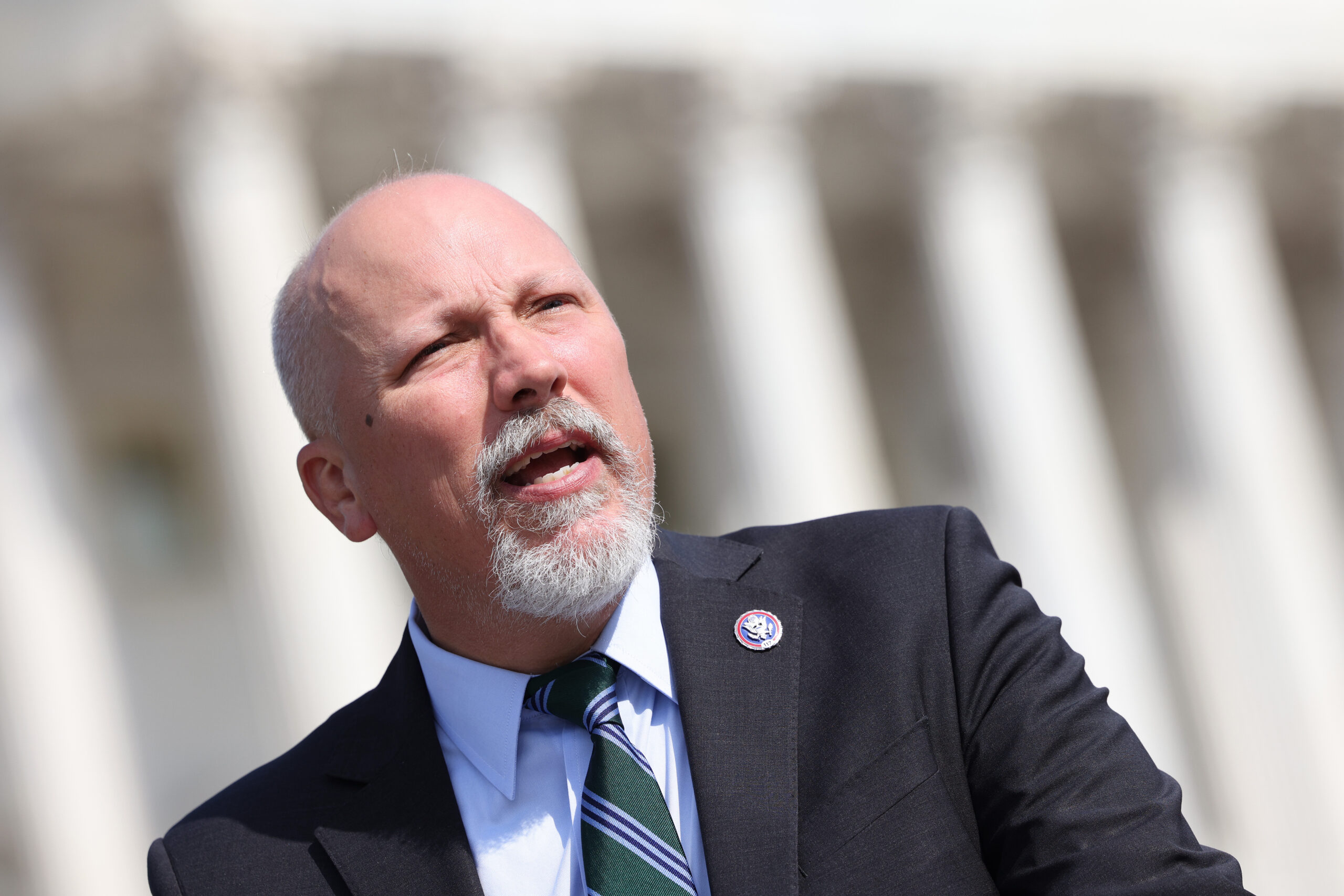 Rep. Chip Roy (R-Texas) speaks at a press conference in Washington, DC. (Photo by Kevin Dietsch/Getty Images)