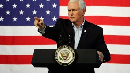 ABINGDON, VA - OCTOBER 14: U.S. Vice President Mike Pence speaks during a campaign rally for gubernatorial candidate Ed Gillespie, R-VA, at the Washington County Fairgrounds on October 14, 2017 in Abingdon, Virginia. Virginia voters head to the polls on Nov. 7. (Photo by Sara D. Davis/Getty Images)
