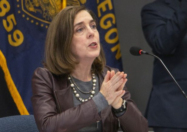 Ore. Gov. Kate Brown is photographed. (Cathy Cheney/AP Photo)