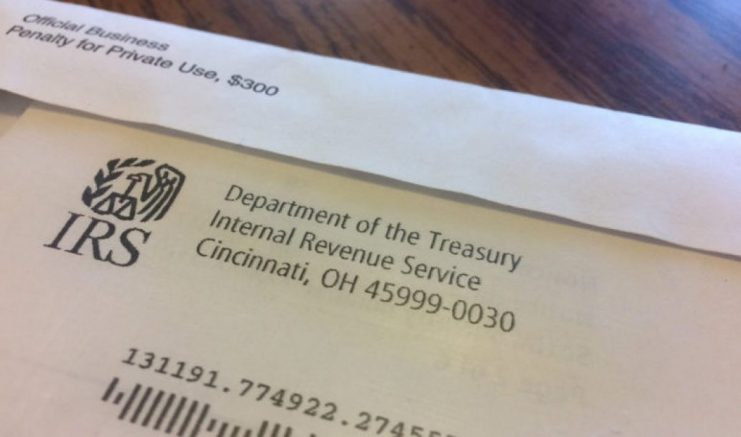 IRS certified letter (AP)