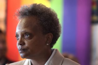 CHICAGO, ILLINOIS - JUNE 07: Chicago Mayor Lori Lightfoot speaks to guests at an event held to celebrate Pride Month at the Center on Halstead, a lesbian, gay, bisexual, and transgender community center, on June 07, 2021 in Chicago, Illinois. Lightfoot is the first openly gay mayor of the city of Chicago. (Photo by Scott Olson/Getty Images)