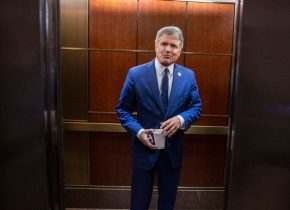 WASHINGTON, DC - OCTOBER 15: U.S. Rep. Michael McCaul (R-TX) leaves after a closed session before the House Intelligence, Foreign Affairs and Oversight committees October 15, 2019 at the U.S. Capitol in Washington, DC. Deputy Undersecretary of State George Kent is on Capitol Hill to testify before the committees in the ongoing impeachment inquiry against President Donald Trump. (Photo by Tasos Katopodis/Getty Images)