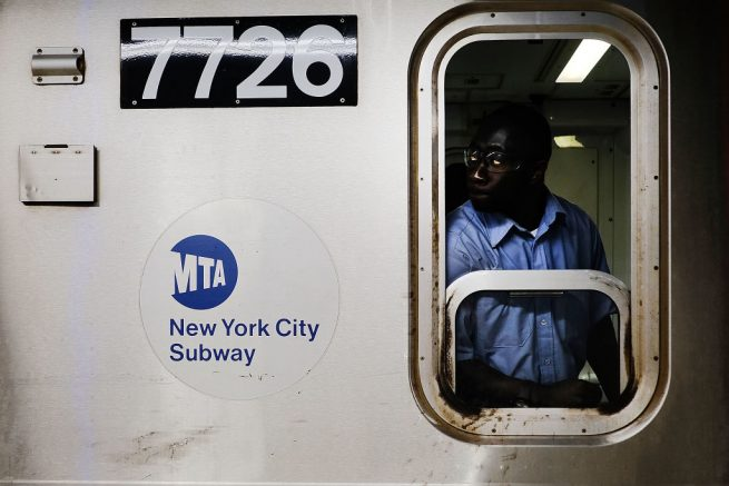 NEW YORK, NY - JUNE 29: A Metropolitan Transportation Authority (MTA) subway conductor prepares to leave a station on June 29, 2017 in New York City. Following a series of breakdowns, delays and political fingerpointing, New York Gov. Andrew M. Cuomo has declared a state of emergency for the subway system on Thursday and said he would sign an executive order to accelerate efforts to improve service. (Photo by Spencer Platt/Getty Images)