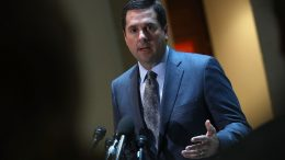 WASHINGTON, DC - MARCH 07: Rep. Devin Nunes (R-CA), chairman of the House Permanent Select Committee on Intelligence, answers questions at the U.S. Capitol during a press conference March 7, 2017 in Washington, DC. Nunes announced that the first public hearing on Russian interference in the U.S. election will begin March 20. (Photo by Win McNamee/Getty Images)