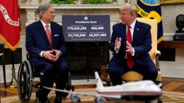 President Donald Trump speaks during a meeting about the coronavirus response with Gov. Greg Abbott in the Oval Office of the White House, May 7, 2020, in Washington. (Photo: Evan Vucci/AP)