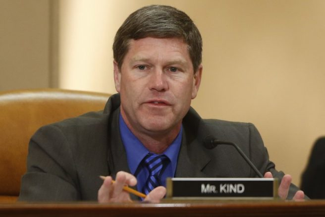 FILE - In this June 4, 2013 file photo, Rep. Ron Kind, D-Wisc., appears at a hearing on Capitol Hill in Washington. Republican Derrick Van Orden announced Thursday, April 8, 2021, that he's trying again to beat longtime Democratic U.S. Rep. Ron Kind in a district that former President Donald Trump carried twice. (AP Photo/Charles Dharapak, File)