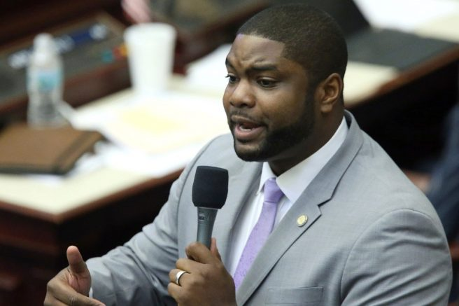 Rep. Byron Donalds speaks during a session. | Steve Cannon/AP Photo