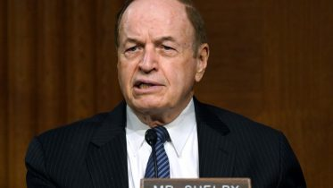 Sen. Richard Shelby, R-Ala., speaks during the Senate's Committee on Banking, Housing, and Urban Affairs hearing on Capitol Hill in Washington. Shelby says he won't seek a seventh term in office in 2022. Shelby made the announcement in a statement on Monday, Feb. 8, 2021. (Toni L. Sandys/The Washington Post via AP, Pool, File)