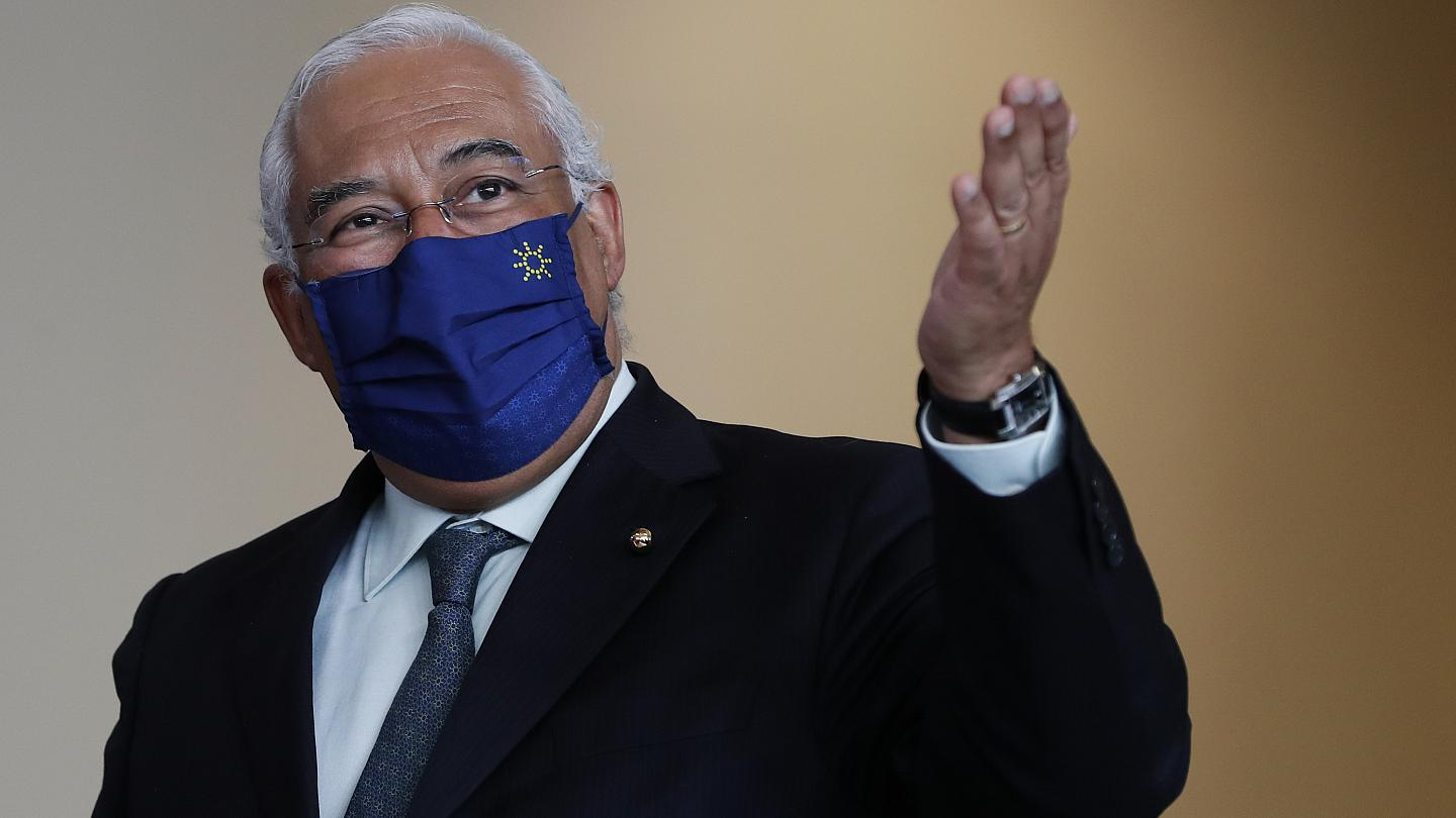 Prime Minister António Costa says the government is preparing the future steps of deconfinement and will announce them in due course. - Copyright AP Photo/Armando Franca