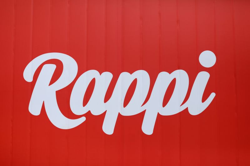 The logo of the Colombian on-demand delivery company Rappi is seen in Bogota