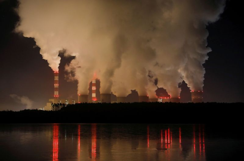 FILE PHOTO: Smoke and steam billows from Belchatow Power Station