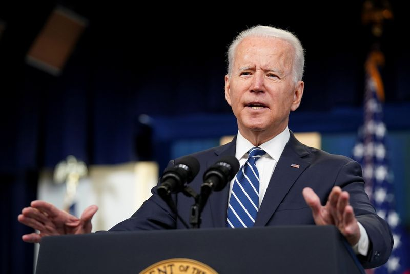 U.S. President Biden delivers remarks on the June jobs report at the White House in Washington