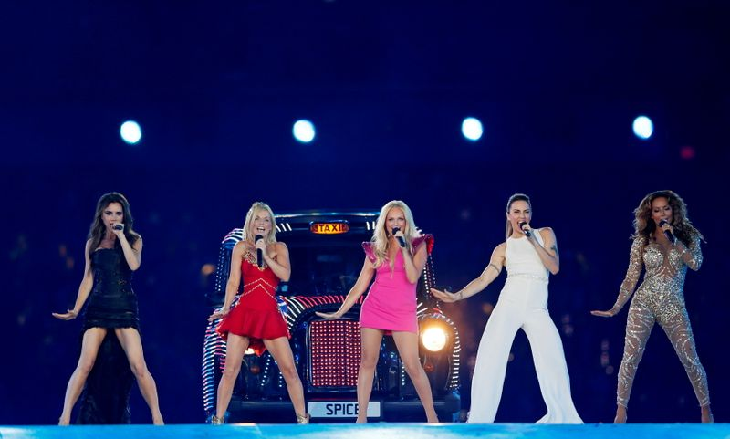The Spice Girls perform during the closing ceremony of the London 2012 Olympic Games