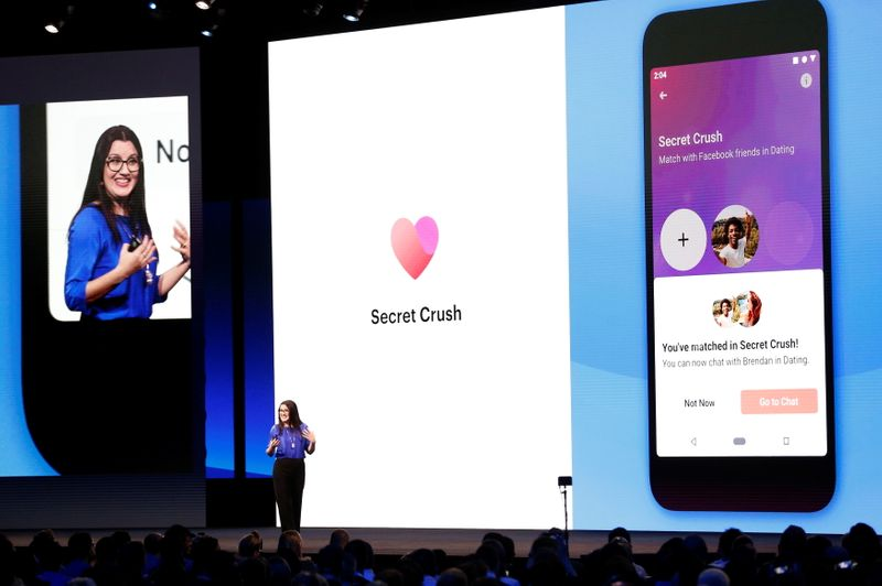 FILE PHOTO: Facebook's Fidji Simo speaks about the Facebook Dating app during Facebook Inc's annual F8 developers conference in San Jose