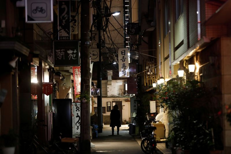 FILE PHOTO: Restaurants found flouting Japan's COVID-19 emergency decree in Tokyo