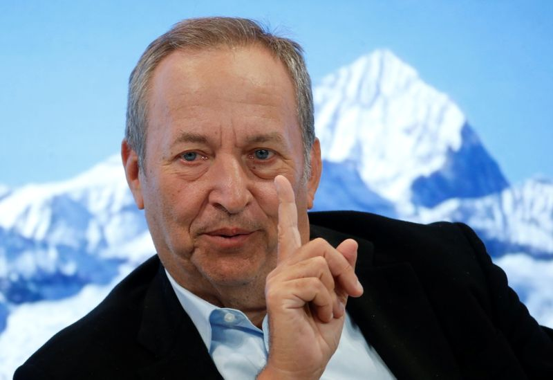 FILE PHOTO: Lawrence H. Summers attends the World Economic Forum in Davos
