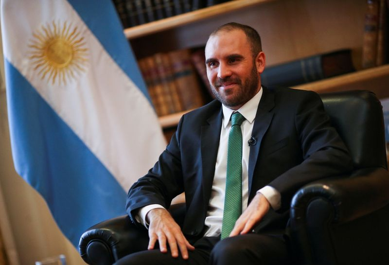 FILE PHOTO: Argentine Economy Minister Martin Guzman during an interview with Reuters in his office in Buenos Aires, Argentina