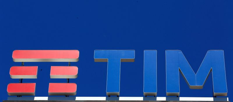 FILE PHOTO: FILE PHOTO: Telecom Italia's logo for the TIM brand is seen on building roof downtown Milan
