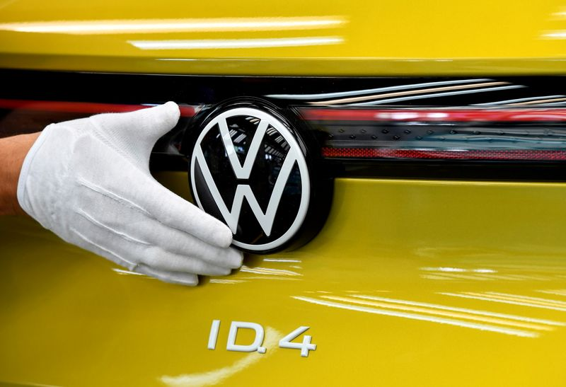 FILE PHOTO: VW shows electric SUV ID 4 during a photo workshop