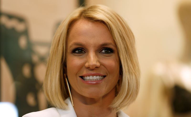 FILE PHOTO: Singer Spears launches lingerie collection 'The Intimate Britney Spears Spring/Summer 2015' at a shopping mall in Oberhausen